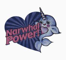 Narwhal POWER Kids Tee