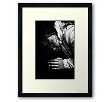train sleep Framed Print