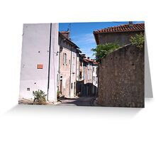 A Street in Saint-Lizier Greeting Card