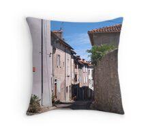 A Street in Saint-Lizier Throw Pillow