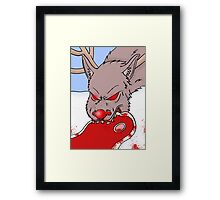 Is that why Rudolph has a red nose? Framed Print