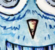 Cute blue owl Sticker