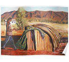 Humpy Dwelling, Northern Territory Poster