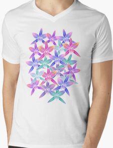 Hawaiian flowers Mens V-Neck T-Shirt