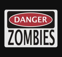 DANGER ZOMBIES FUNNY FAKE SAFETY SIGN SIGNAGE One Piece - Long Sleeve