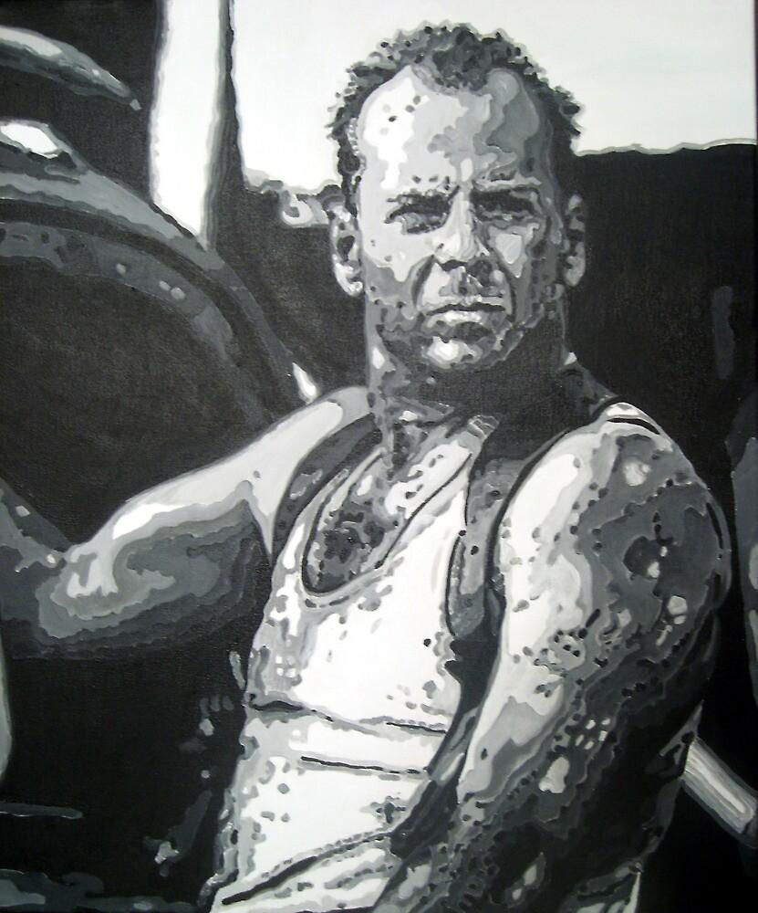 Bruce willis in die hard iconic piece by artist Debbie Boyle - db artstudio by Deborah Boyle