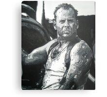 Bruce willis in die hard iconic piece by artist Debbie Boyle - db artstudio Metal Print