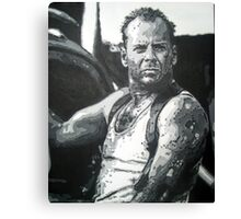 Bruce willis in die hard iconic piece by artist Debbie Boyle - db artstudio Canvas Print