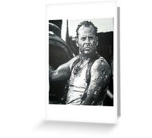 Bruce willis in die hard iconic piece by artist Debbie Boyle - db artstudio Greeting Card
