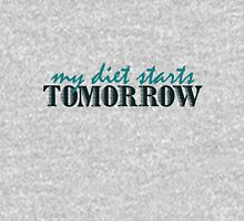 My diet starts tomorrow Womens Fitted T-Shirt
