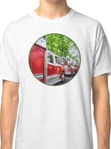 Long Line of Fire Trucks Classic T-Shirt