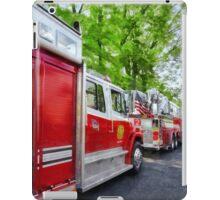 Long Line of Fire Trucks iPad Case/Skin