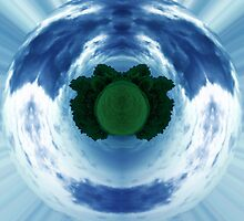 Green little planet 5 - full circle by Explosive