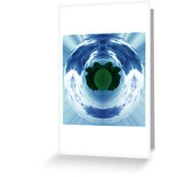Green little planet 5 - full circle Greeting Card