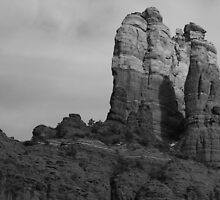 Black & white landscape - Sedona, Arizona USA by Lise Kool