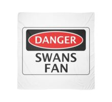 DANGER SWANSEA CITY, SWANS FAN, FOOTBALL FUNNY FAKE SAFETY SIGN Scarf