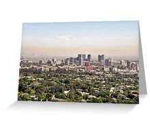 Los Angeles, California - Glitter and Trouble Greeting Card