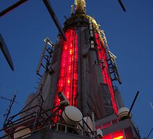 Up Close and Personal, The Red Light, Empire State Building, NYC by Michele Ford