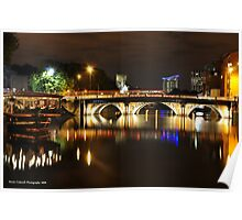 Bristol Bridge Reflections Poster