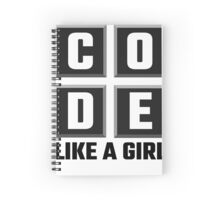 Code Like A Girl Spiral Notebook