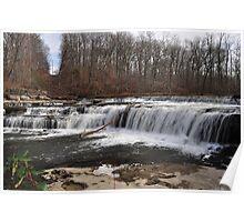 Top of Cataract Falls-Upper Falls Area Poster