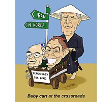 Babycart at the crossroads - Democracy by force Photographic Print
