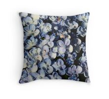 Light Blue Hydrangea-(Floral Macro) Throw Pillow