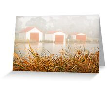 """""""Morning Boat Sheds"""",Anglesea,Great Ocean Road,Australia. Greeting Card"""