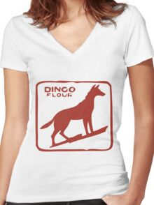 Dingo Flour Mill Women's Fitted V-Neck T-Shirt