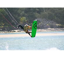 Kite surfing at Currumbin Alley. Photographic Print