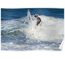 In the white Wash,Snapper Rocks. Poster