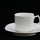 just a cup and saucer by Jerry Deutsch