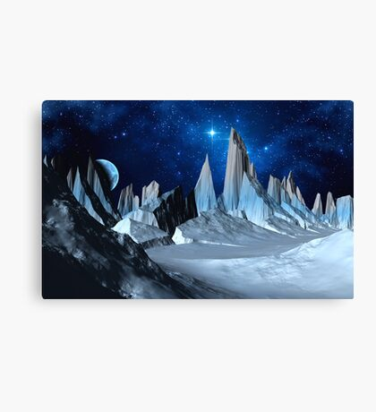 Worlds Beyond the Ice Canvas Print