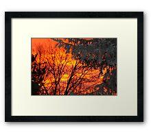 firey night Framed Print