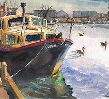 The boat at Wroxam. by Hopebaby