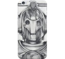 Cyberman Pencil Drawing iPhone Case/Skin