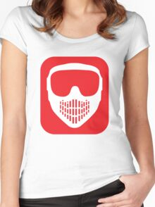 Paintball Goggles Women's Fitted Scoop T-Shirt