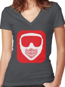 Paintball Goggles Women's Fitted V-Neck T-Shirt