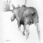 Moose Departing by Patricia Howitt