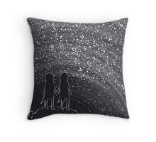 Suspended stars Throw Pillow