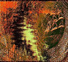 cave wall shadows, sketches....... early homo sapiens by banrai