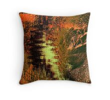 cave wall shadows, sketches....... early homo sapiens Throw Pillow