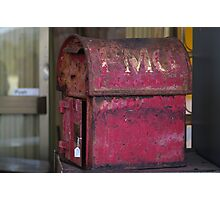 an old post box  Photographic Print