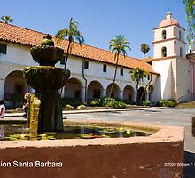 Mission Santa Barbara by William Hackett