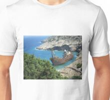 Greek Island Ship Wreck Unisex T-Shirt