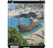 Greek Island Ship Wreck iPad Case/Skin