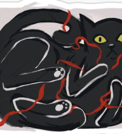 Cat's grace Sticker