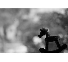 Baby Rocking Horse Photographic Print