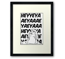 He-Man Sings! (white) Framed Print