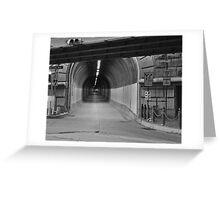 10 street Black & White Greeting Card